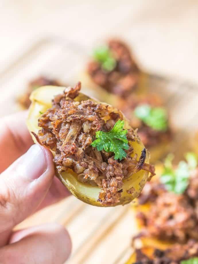 Ziemniaki faszerowane kaszanką
