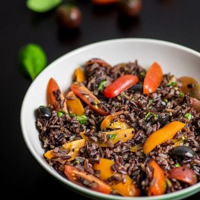Sałatka z czarnego ryżu