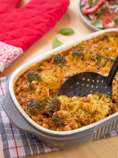 Zapiekanka z ryżem i brokułami