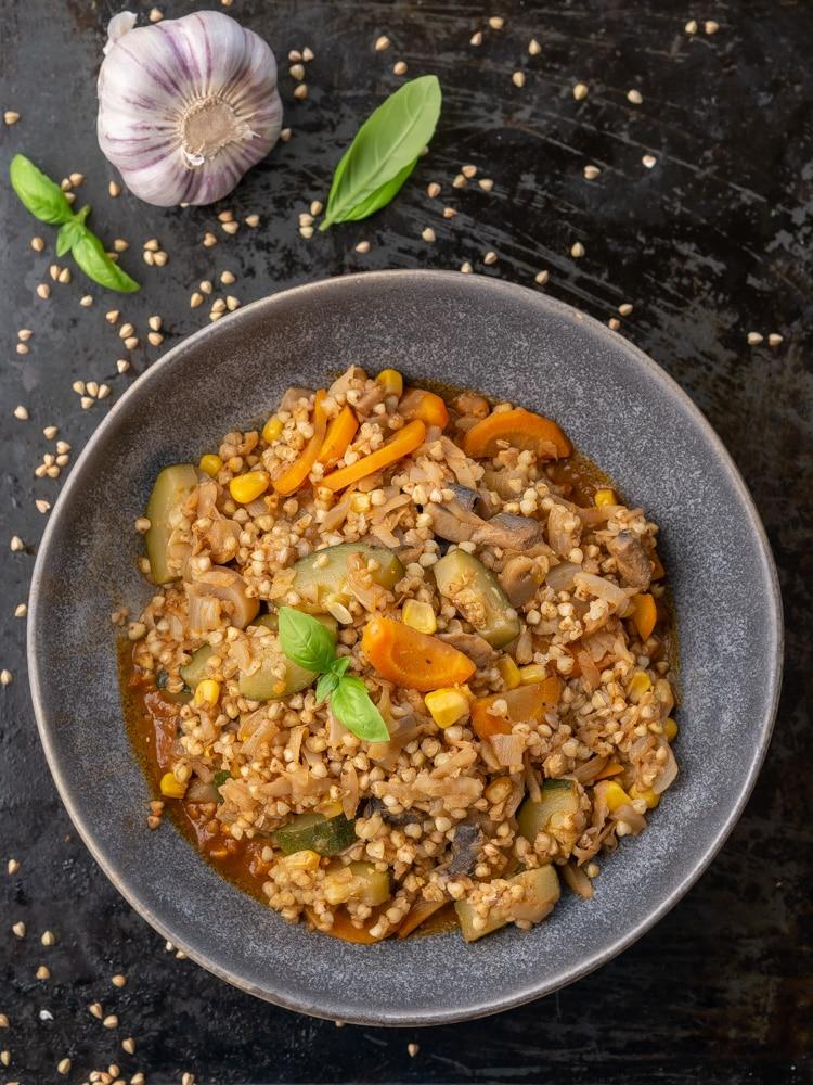 Kaszotto z kaszy gryczanej z warzywami