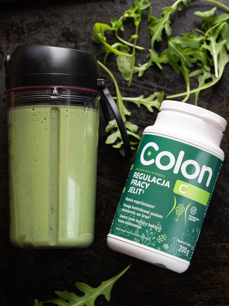 Zielony koktajl z rukolą