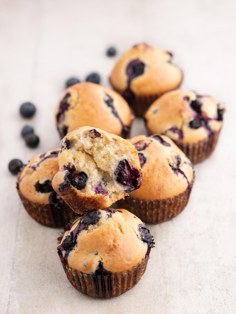 Przepis na Babeczki z borówkami | Muffinki z borówkami