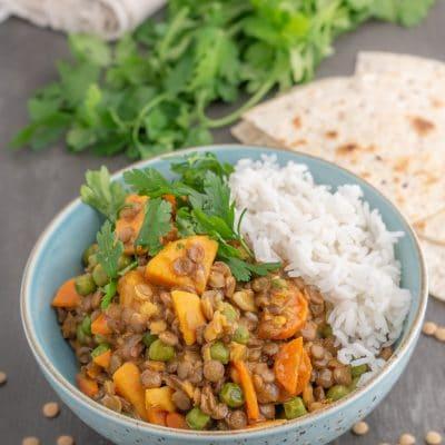 Przepis na Curry z zielonej soczewicy
