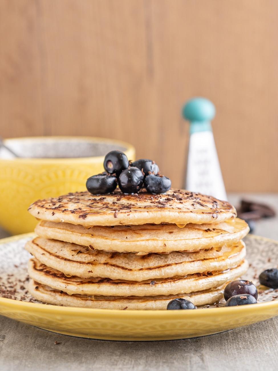 Przepis na Wegańskie pancakes bez jajek. Placuszki wegańskie
