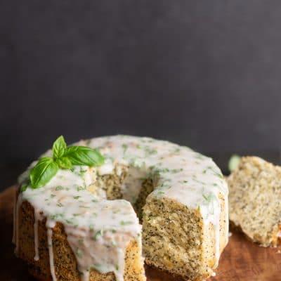 Wegańska babka cytrynowa z makiem | Przepis na wegańskie ciasto cytrynowe z makiem
