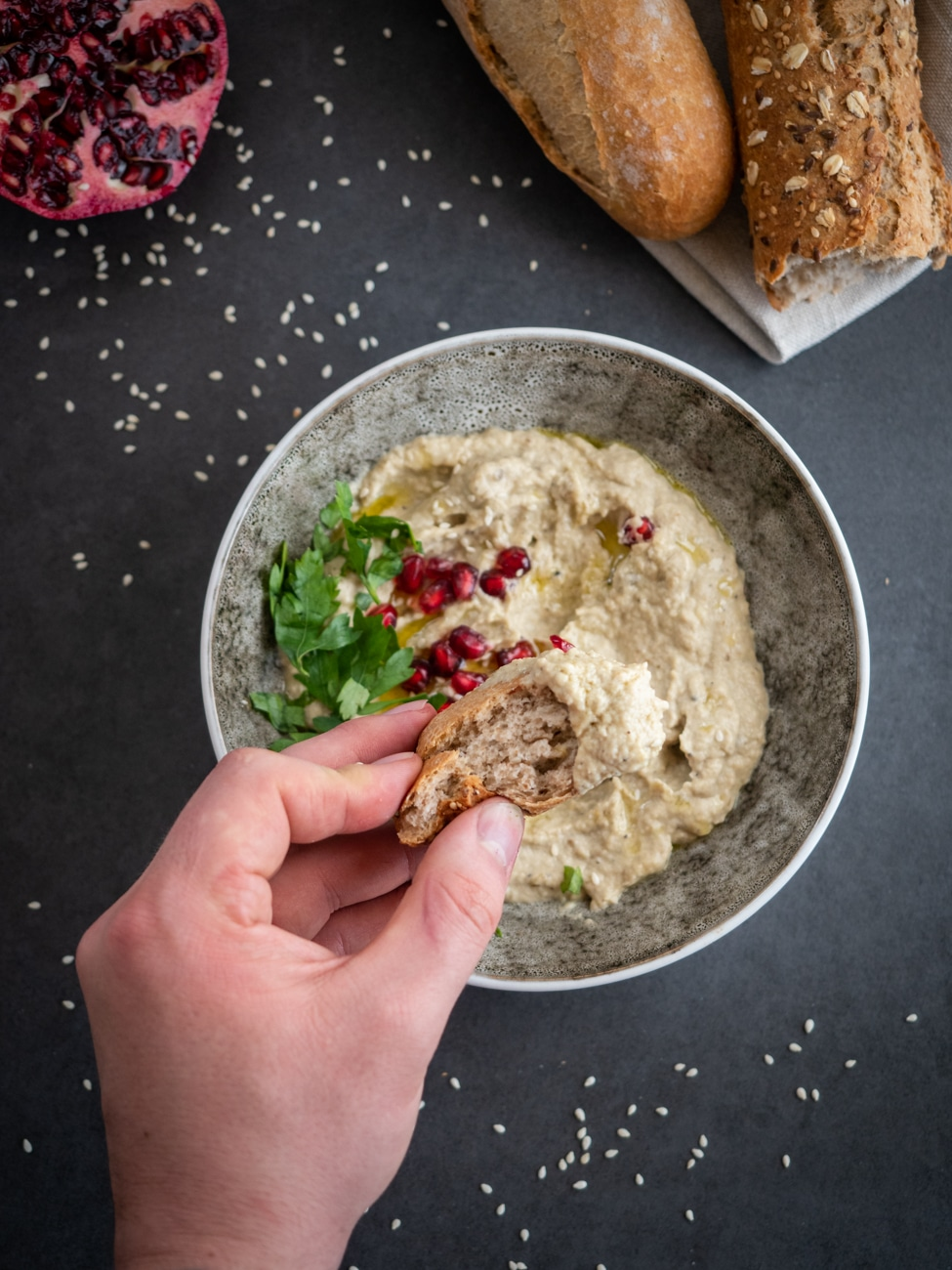 Baba ghanoush - Pasta z bakłażana