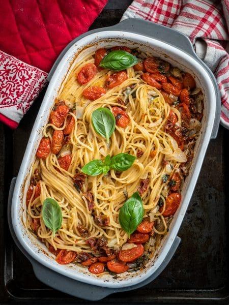 Przepis na makaron spaghetti z piekarnika