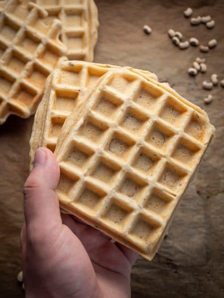 Przepis na Wegańskie gofry z fasoli bez jajek i bez mleka
