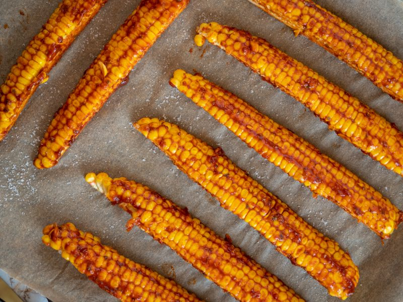 przepis na żeberka z kukurydzy - pieczona kukurydza